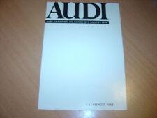 DEPLIANT gamme  Audi de 1985
