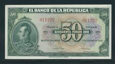 COLOMBIA BANKNOTES  $50 1950 6 DIGITS