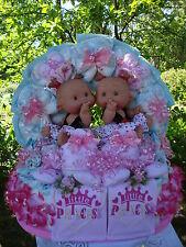 """XL Windeltorte Zwillinge""""Little Princess mit zwei Babypüppchen""""Mädchen,Geburt"""