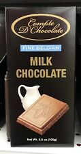 Compte D Chocolate Fine Belgian Milk Chocolate 3.5 Oz Bar