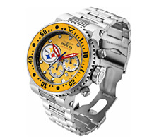 Invicta Men 52mm Pro Diver NFL OFFICIAL Pittsburgh Steelers Bracelet SS Watch