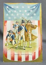 Old Patriotic 4th of July Postcard-Tuck Independence Day Continentals Soldiers