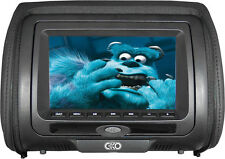 "C-Ko 7"" TFT LCD Monitor DVD REPOSACABEZAS de recambio universal-Negro Cuero Sintético"