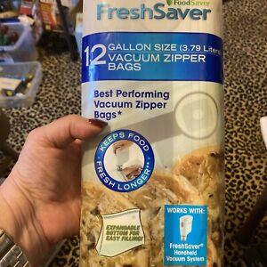 ESTATE SALE: Foodsaver Gallon Size Vacuum Zipper Bags Expandable (12 Count)