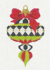 Kelly Clark Spinning Top handpainted Needlepoint Canvas Ornament & Stitch Guide