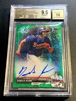 RONALD ACUNA 2017 BOWMAN CHROME PROSPECTS REFRACTOR AUTO ROOKIE /99 BGS 9.5 10