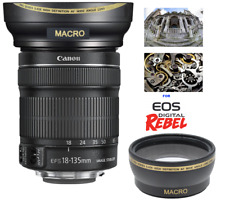 HD  ULTRA WIDE ANGLE P MACRO LENS FOR EF-S18-135mm f/3.5-5.6 IS USM W STABILIZER