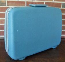 Vintage Samsonite Silhouette Blue Teal Medium Suitcase Luggage