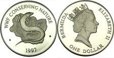 elf Bermuda 1 Dollar 1997 Proof Silver Lizard Skink