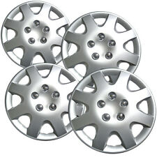 "4 Piece Set 14"" Inch Fit Hub Cap Silver Lug Full Skin Rim Cover for Steel Wheel"
