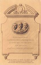 8740) BOLOGNA 1908, LAPIDE IN RICORDO DEI PITTORI CARACCI ALL'ACCADEMIA DI BELLE