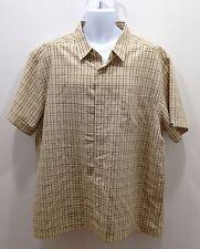 Urban Up Pipeline Men's Dressy Button Down Shirt Size XXL Pale Yellow EUC