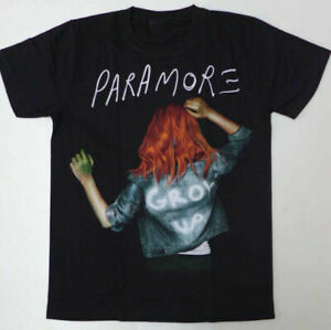 Paramore Grow Up Men Women Black Cotton Short Sleeve T-Shirt NEW gILDAN S-2XL