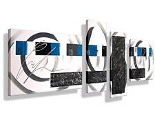 Leinwand Bild HANDGEMALT modern Abstrakt XXL ORIGINAL Bilder Acryl Gemälde  blau