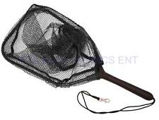 New 7in Plastic Handle Trout Net with Rubberized Netting 14x10in Fishing Landing