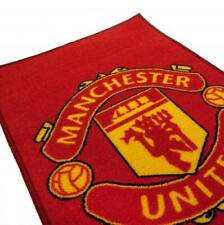 Manchester United FC Official Rug 80cm x 50cm Mat Bedroom Football Birthday Gift