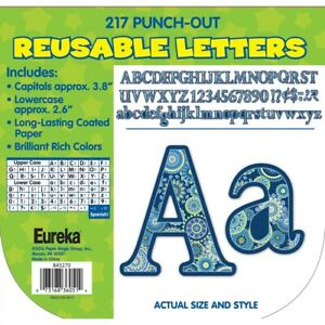 Blue Harmony Deco Letters by Eureka
