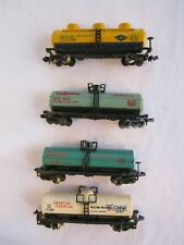 N scale 4 Tank Cars: Celanese Chemicals. Frontier Chemicals & Goodyear Tire