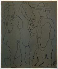 """PICADOR WOMAN AND HORSE"" BY PABLO PICASSO – ORIGINAL 1962 LINOGRAVURE (2T-10)"