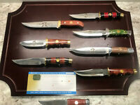 Falkner American Mint the Wild West Bowie Knife Collection 8 Knives *New In Box*