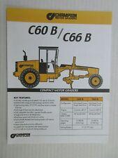 Champion C60B/C66B Motor Grader Color Literature