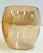 "Glass Container/Vase~Amber-Tone~1 per Order~3"" Rx4"" H~Tea-Light~VotiveHolder,etc"