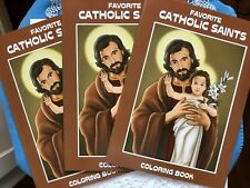 Childrens' Catholic Coloring Books-Lives of the Saints Lot of 3,  32 pgs ea. NEW