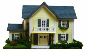 Dollhouse Miniature 1:144 Scale Colonial Style  House Kit Complete