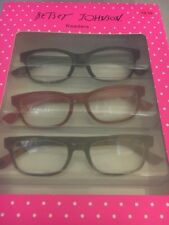 BETSEY JOHNSON + 2.00  READERS BLACK / RED/ TORTOISE 3 PAIRS NWT