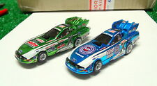 AutoWorld NHRA 4G Robert Hight/John Force Chrome Funny Cars / NOS / Set Cars