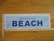 """This Way To The Beach Arrow Shells  Cotton Quilt Fabric Block 5 3/4"""" x 21 1/2"""""""