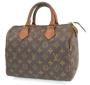 Authentic LOUIS VUITTON Speedy 25 Monogram Boston Handbag Purse #40706