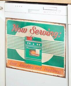 Vintage-Inspired Dishwasher Magnet Cover Retro Rustic Nostalgic Kitchen Magnet