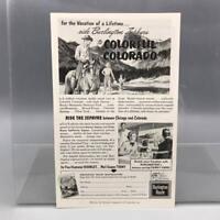 Vintage Magazine Ad Print Design Advertising Colorado Tourism
