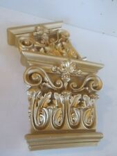 ORNATE WALL CORBELS  FURNITURE FIRE PLACE SHELF SUPPORTS RESIN GOLD IN COLOUR