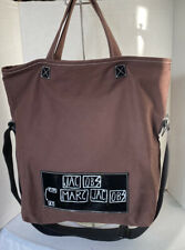 Jacobs By Marc Jacobs For MJ Brown Canvas Shopper Tote Bag Crossbody