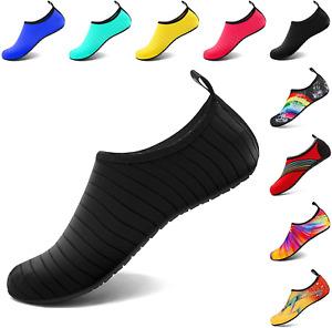 VIFUUR Water Sports Shoes Barefoot Quick-Dry Aqua Yoga Socks Slip-on for Men Wom