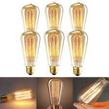 6x 40w E27 Retro Filament Edison Light Bulb Industrial Squirrel Cage Vintage