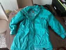 Eddie Bauer Goose Down Ski Parka Coat Womans Small Premium Quality Green Hood