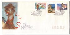 "FDC Australia 1990 Christmas Bush Nativity. Pictorial Postmark ""Christmas Hills"""
