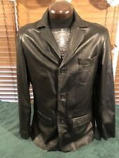 Womens VERA PELLE Echtes Leder ITALY Leather Jacket Sz.50-M see pics some scuffs