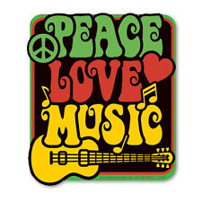 CS247 - Love Peace Music Color Sticker / hippy hippie psychedelic vintage style
