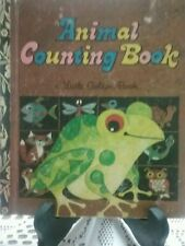 ANIMAL COUNTING BOOK Little Golden Book 1972 H/C  *VGC