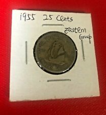 1955 British Caribbean Territories Eastern Group 25 Cents Coin World Coin