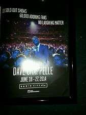 Dave Chapelle Rare Original Radio City Music Hall Promo Poster Ad Framed!