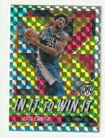 2019-20 Panini Mosaic Prizm Silver Joel Embiid In It to Win It Hobby SP Insert