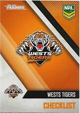 2017 NRL Traders Base Card (151) WESTS TIGERS Check List