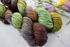 "Hand Dyed  ""Hello Parker"" 4 Ply Luxury Knitting Yarn  X 1 Skein"