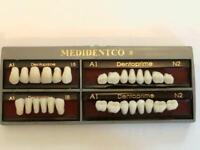 Original Dentoprime Zähne 28er  2Schicht Kunststoffzähne A1 CE /Acrylic Teeth A1