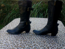 Vintage Cesto De Cino for Joop Black Leather boots made in Italy UK size 6 EU 39
